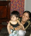 Du's daughter-in-law & grandaughter- Son Vien Village