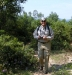 LtCol Gene Mares, USMC, (Ret) starting hike to crash site
