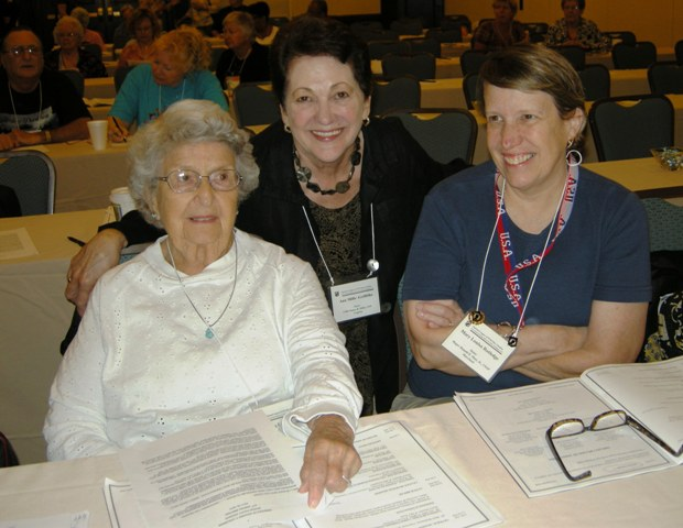 League Executive Director Ann Mills Griffiths (middle) at the 2010 annual League Meeting in Washingto, D.C.