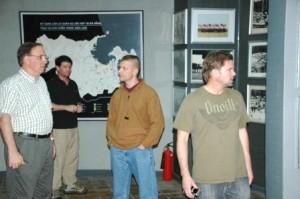 L-R:  Doug, Brett, Lt. Col Ed Nevgloski, & Craig in Vietnam (2009)