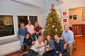 Christmas 2016 in San Diego. L-R Seated at Window: Elaine Zimmer Davis; Brett Davis; Alie Zimmer; Floor: Nick Zimmer, Bea Zimmer; Breeze Davis; Matt Zimmer; Craig Zimmer; Ron Davis