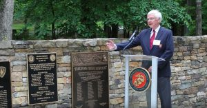 Capt. Andres (Andy) Vaart, USNR, ret., is another one of Bravo Company's devotee. Andy told the families and friends of those listed on the plaque that he wanted to acknowledge the suffering of those left behind – it was a beautiful tribute.