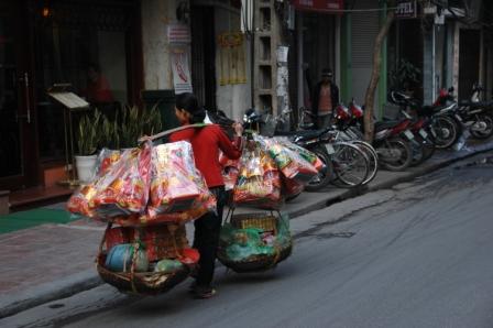 Street outside Hanoi, Old Town hotel