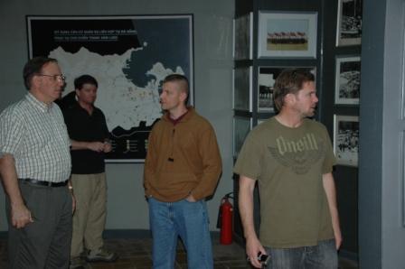 Doug, Brett, Ed and Craig at War Crimes Museum-Danang