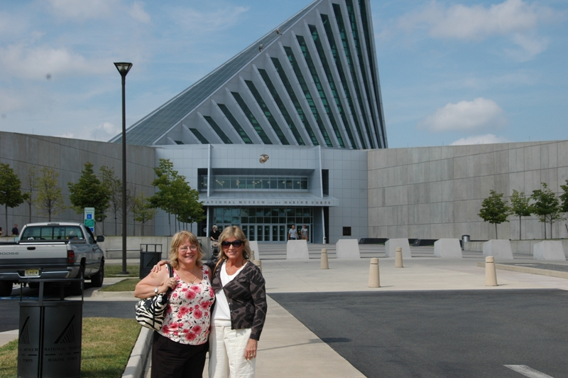 Jeanne Kelly & Elaine at National Museum of the Marine Corps- Aug 21, 2009