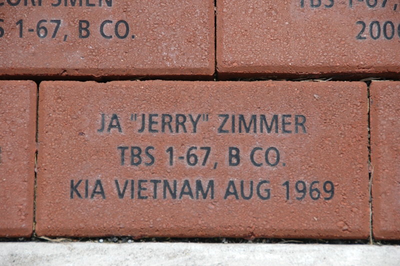 A NMMC Commemorative Brick from Jerry\'s friends in TBS Class 1-67