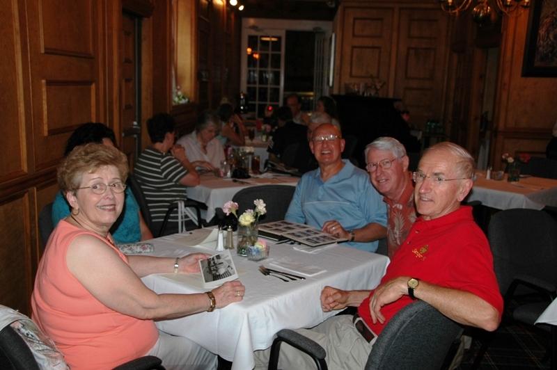 Lynne Miller, Sylvia (hidden) & Gene Mares, Joe Featherstone & BGen Gerry Miller, USMC (Ret)