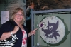 Jeannie at Purple Fox Emblem, her husband Mike Nickerson was killed in VN flying w/ Purple Foxes HMM-364