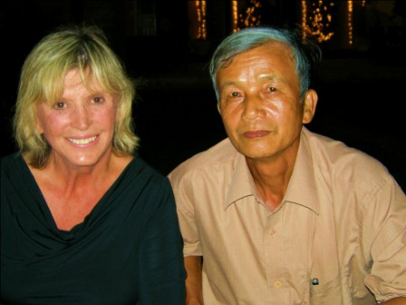 Elaine & Mr. Do in Hoi An after hike to crash site