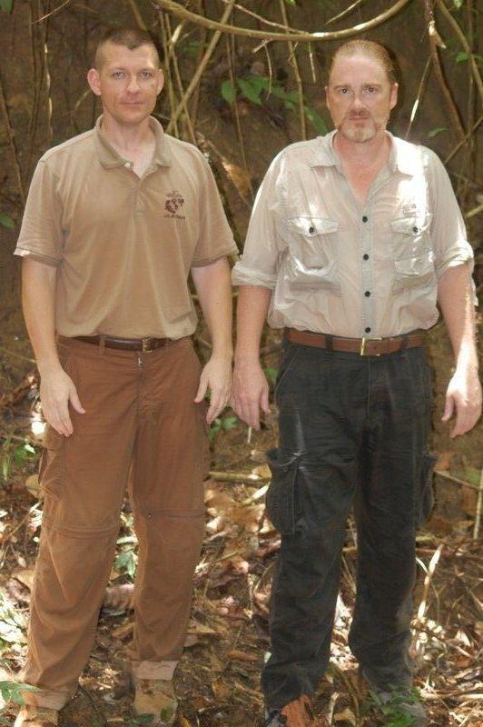 Major Ed Nevgloski & Ron Ward -JPAC, Det 2-sweating at crash site
