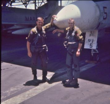 The last photo of Jerry and Navigator Al Graf, before their death on 8/29/69
