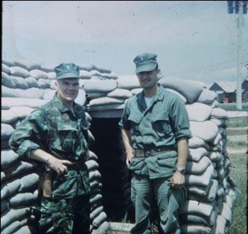 Jerry & Gene Mares by Danang hooch area bunker