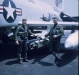 Jerry & RIO Gene Mares, before a mission. Both guys were childhood friends, and Gene was bestman at our wedding and later roomed and flew together in Vietnam. Four decades later, Gene\'s trip to Vietnam with me was a critical turning point in Jerry\'s and Al\'s case.