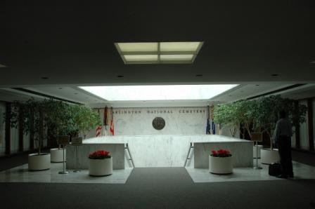 Arlintton National Cemetery Reception Area
