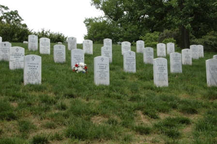 Arlington Memorial Cemetery Memorial Stone section with Zimmer & Graf headstones
