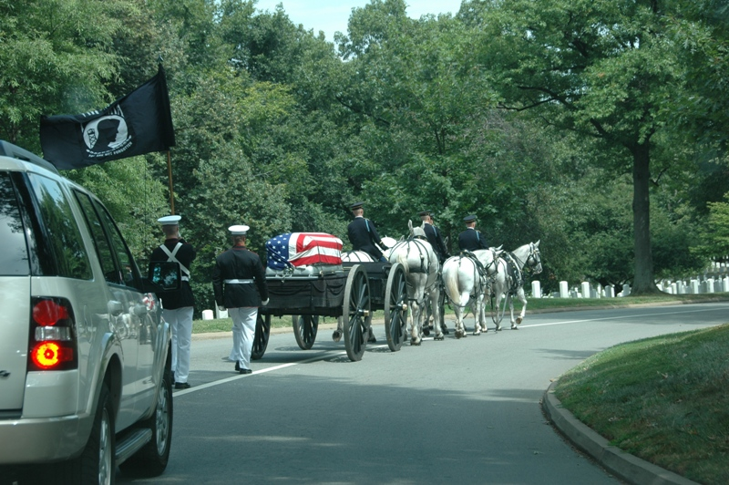 Caisson Led Memorial Procession through Arlington