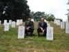 JPAC\'s LTC Quasz Emoto & Ron Ward paying respects at Arlington