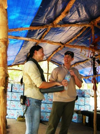 Kristen Baker and Lt Col Todd Emoto