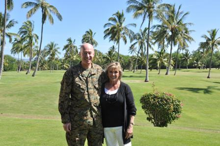 ON THE GOLF COURSE AT HICKAM AFB