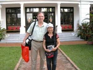 2009: Doug & Hoa in Hoi An, after a day of helping our family find Jerry's crash site.
