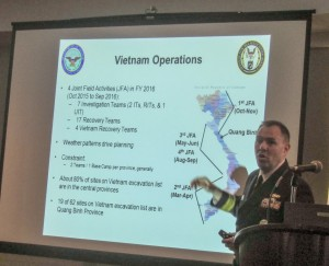 LCDR Michael Rancour, U.S. Navy, is a DPAA Southeast Asia Analyst, shown here describing FY 2016 Vietnam field operations. The schedule looks good -- let's hope the weather does, too.