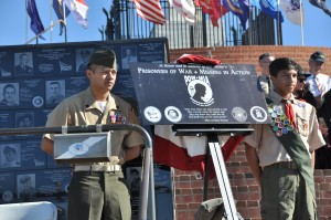 A replica of the newly installed POW/MIA plaque on Mt Soledad